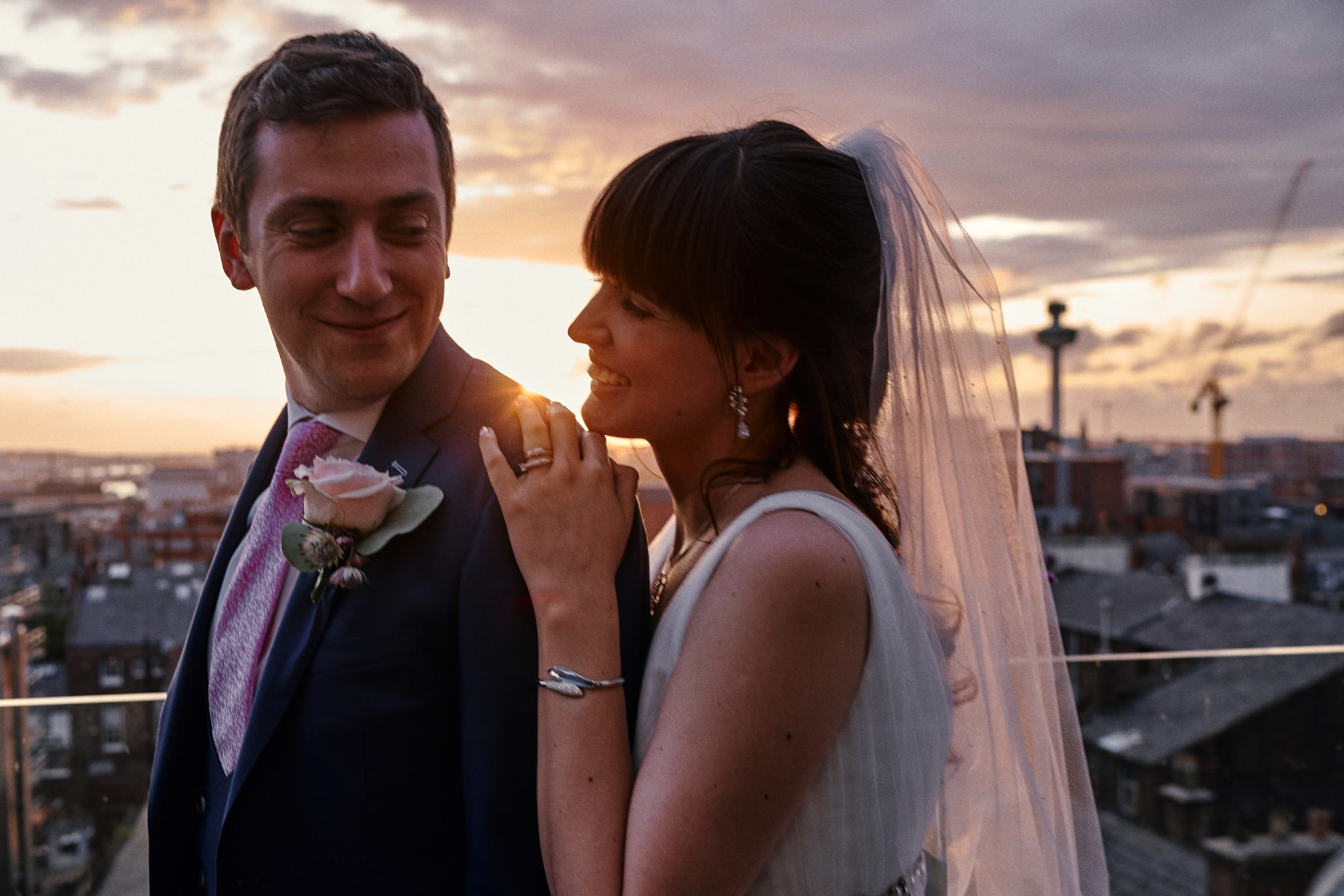 Sunset wedding on the roof of Hope Street Hotel Liverpool