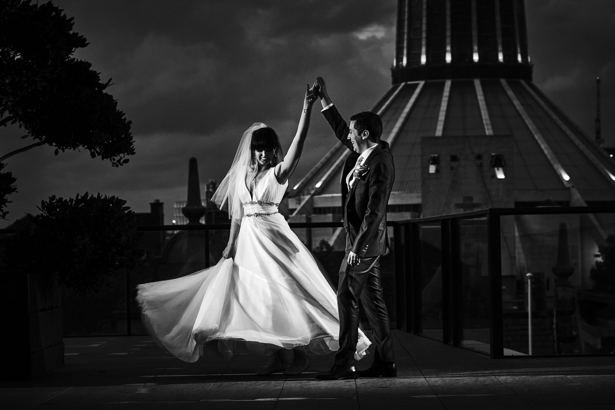 First Dance on the roof of Liverpool