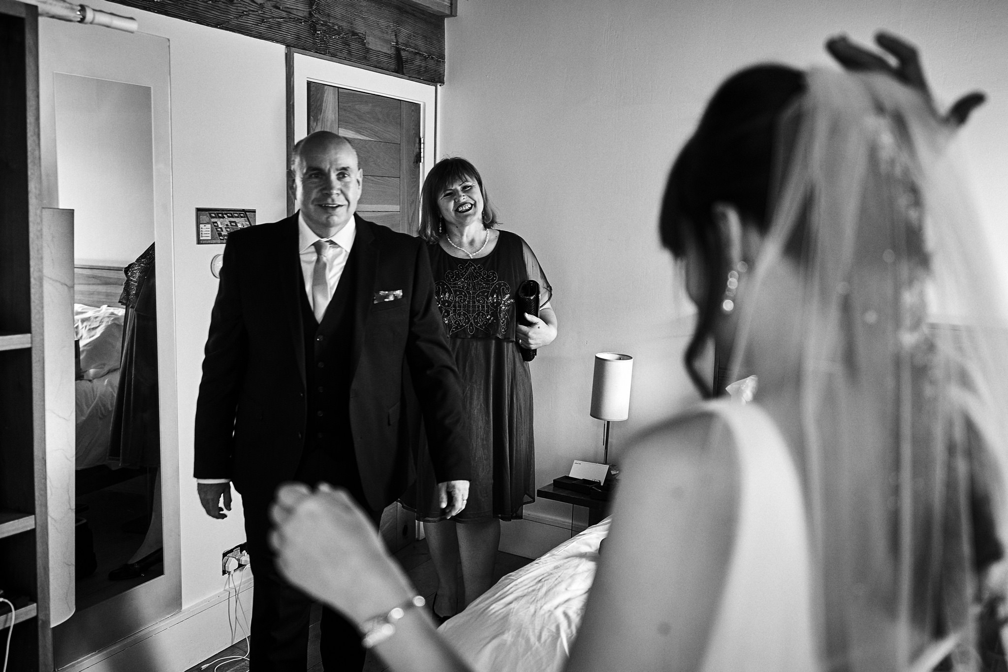 Dad's first look - Bride at Hope Street Hotel Liverpool
