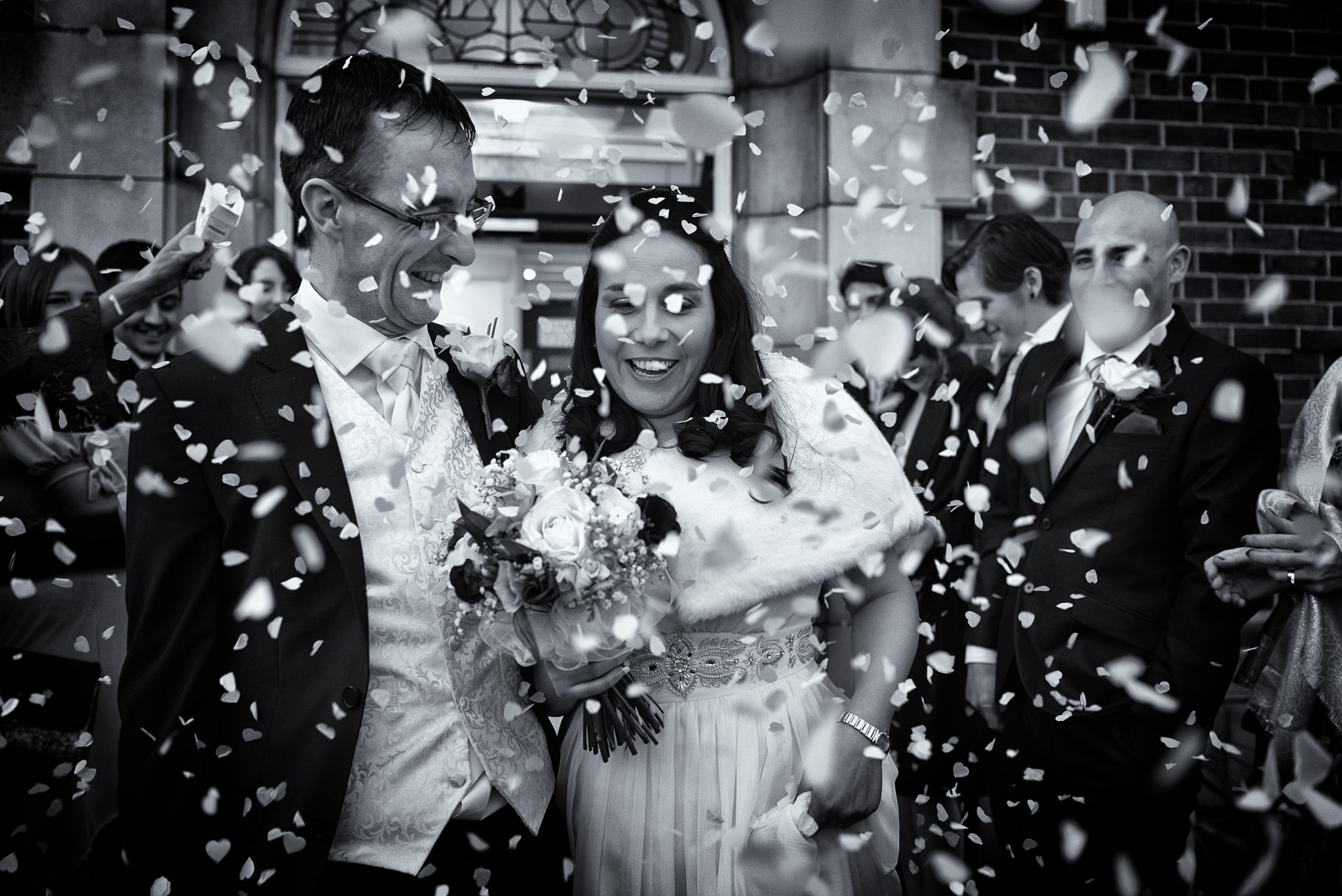 Paul and Claire - Prescot Wedding - Confetti Storm