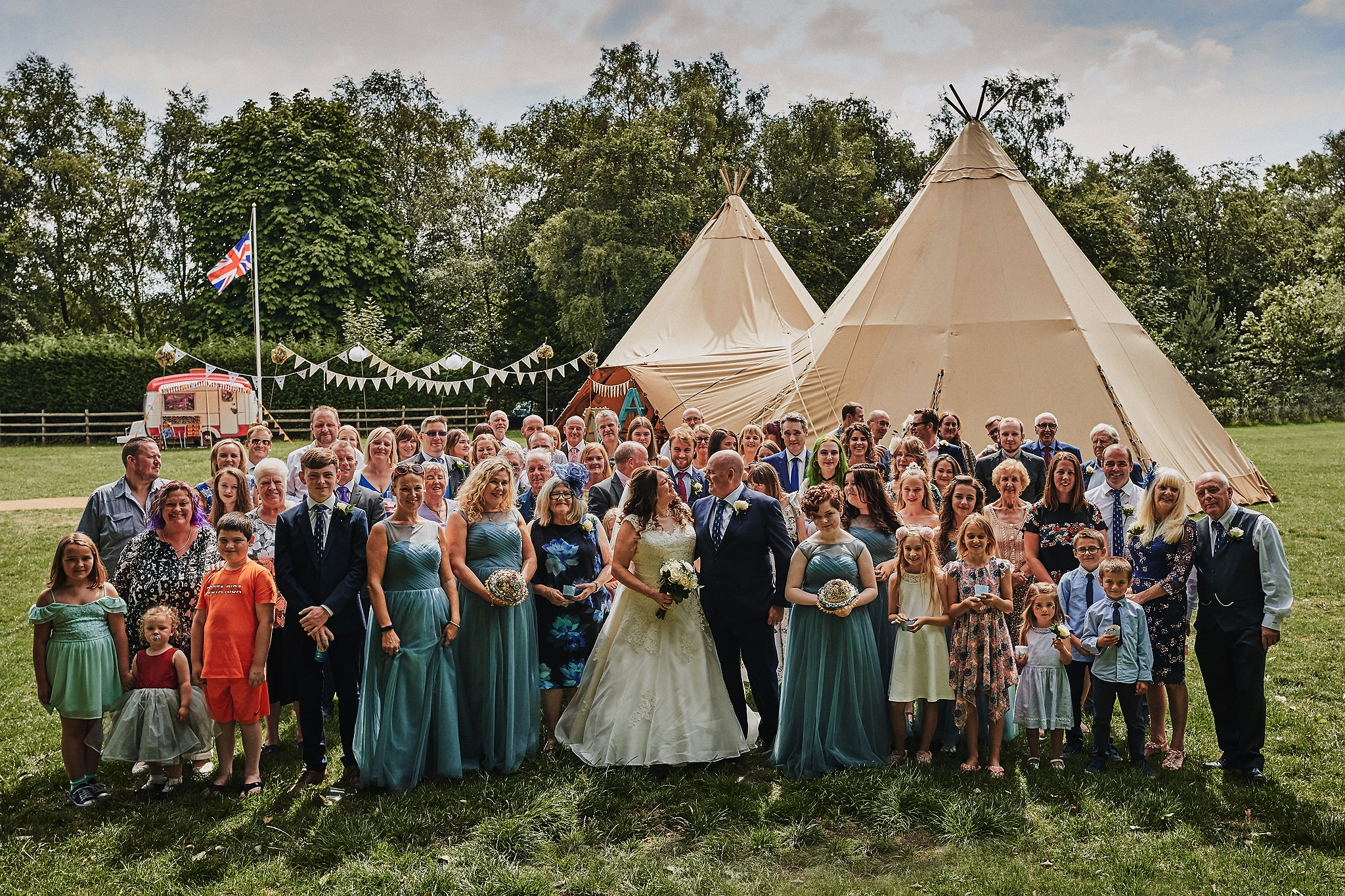 Summer Festival Camp Tipi Wedding