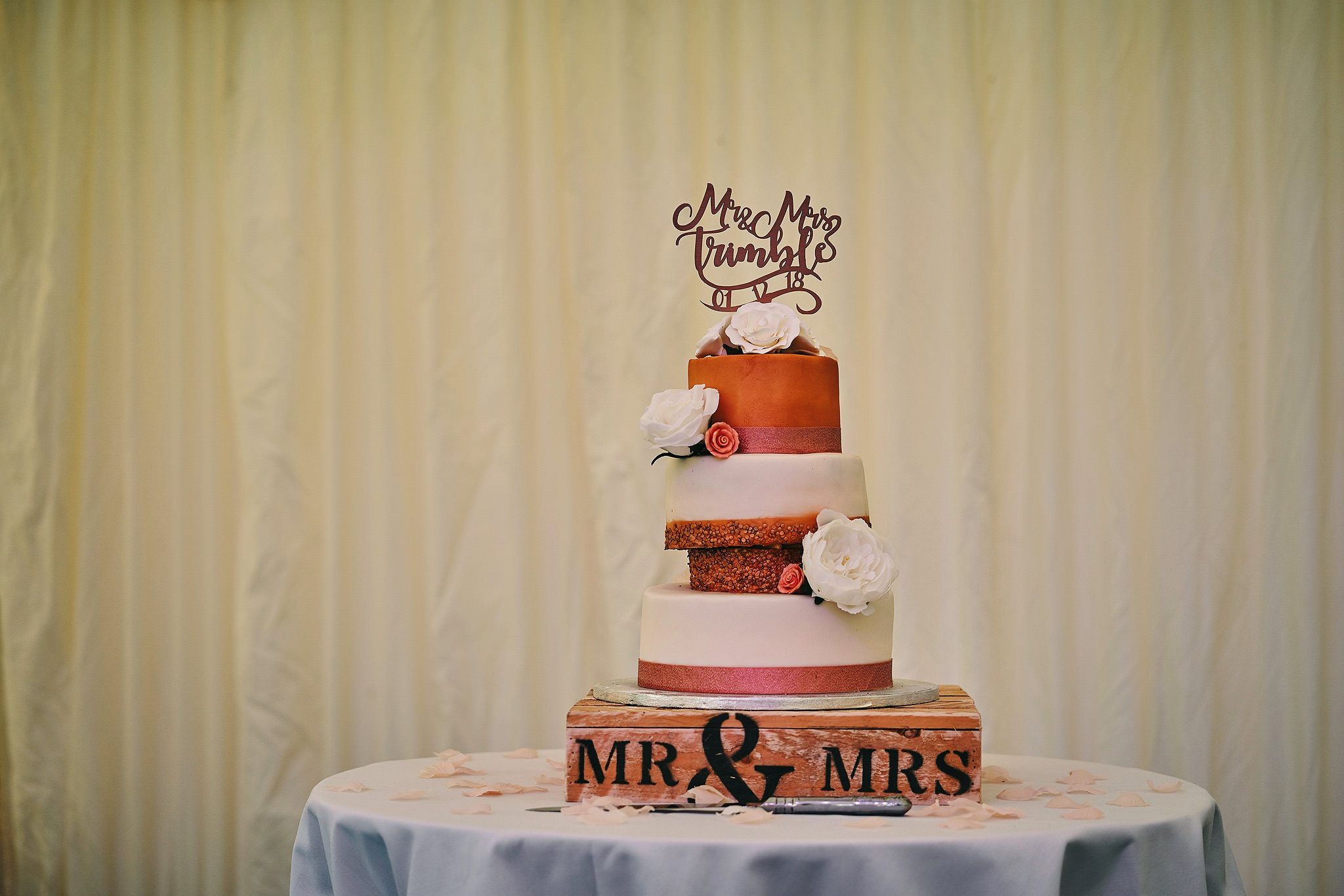 Fabulous Wedding Cake at Nunsmere Hall