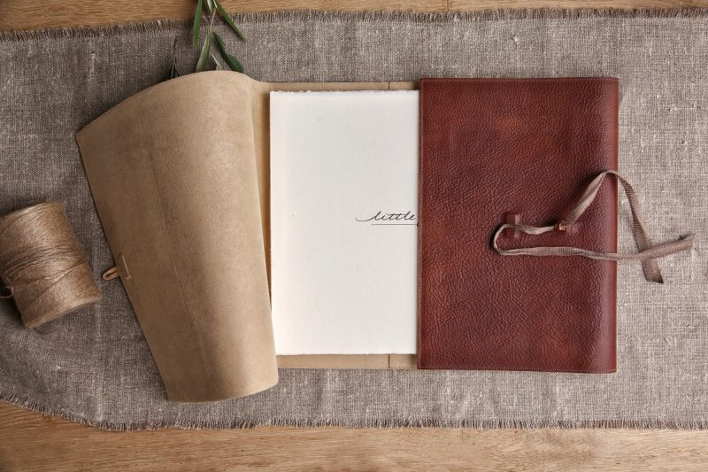Beautiful leather wrapped Italian fine art album