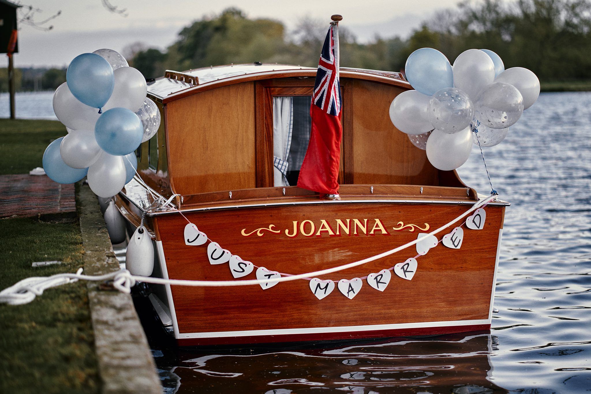 Wedding boat on the Thames